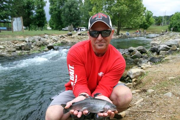 Kentucky s hatchery creek stuffed with trout pautzke bait co for Fish hatchery ky