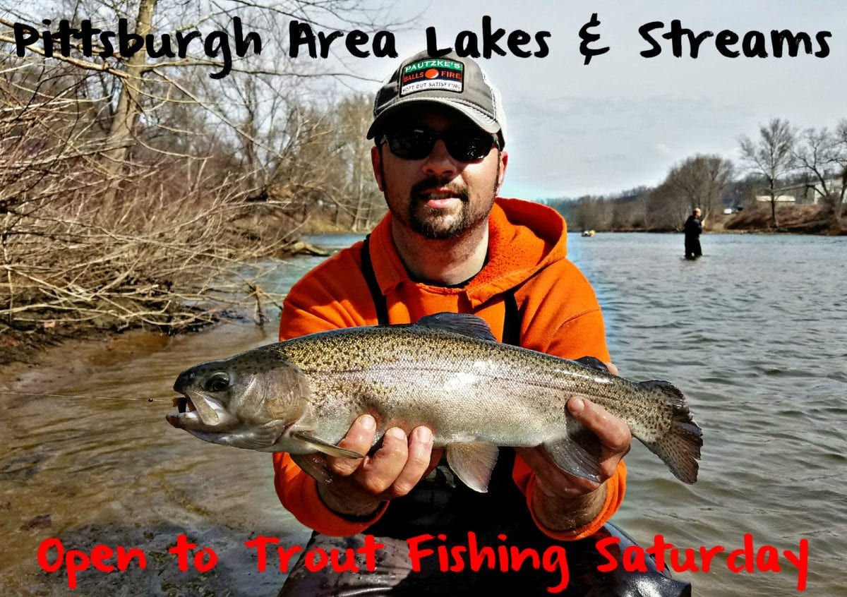 Pittsburgh area lakes steams open to trout fishing for Pa fish stocking