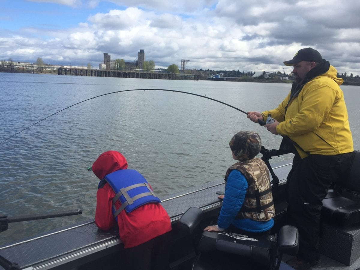 Catching a Spring Chinook while viewing high-rises | Willamette Valley Outfitters
