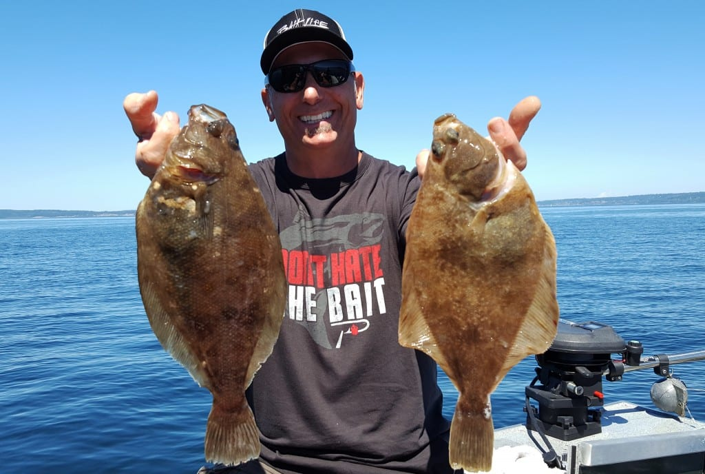 Seattle s puget sound sporting epic flounder sand dab for Halibut fishing seattle