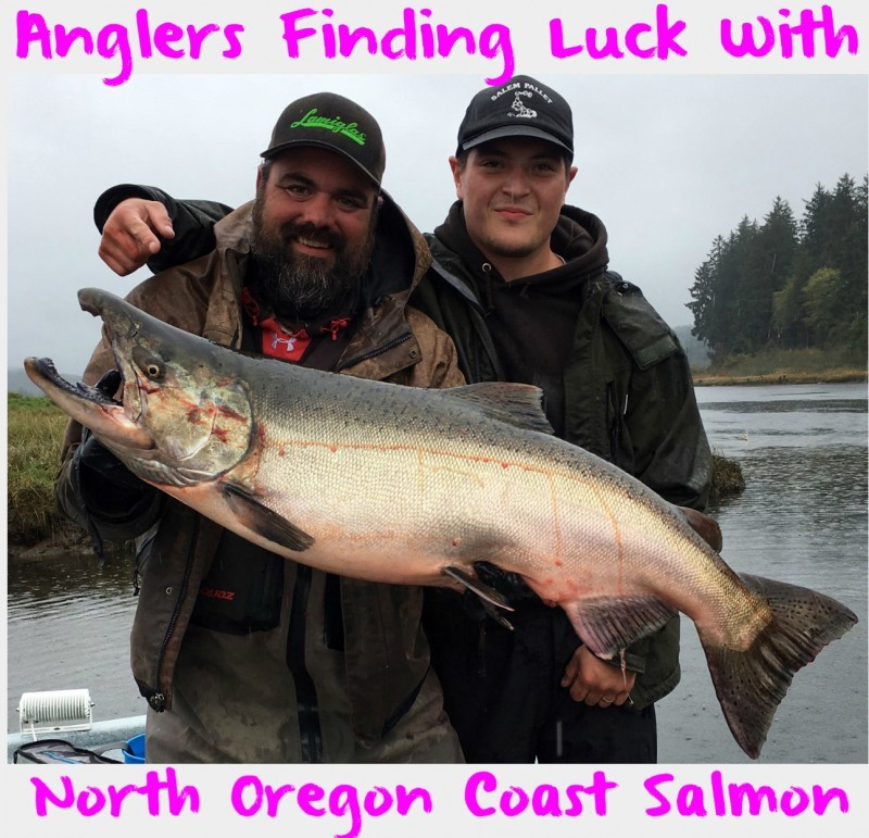 Anglers finding luck with north oregon coast salmon for Tillamook bay fishing