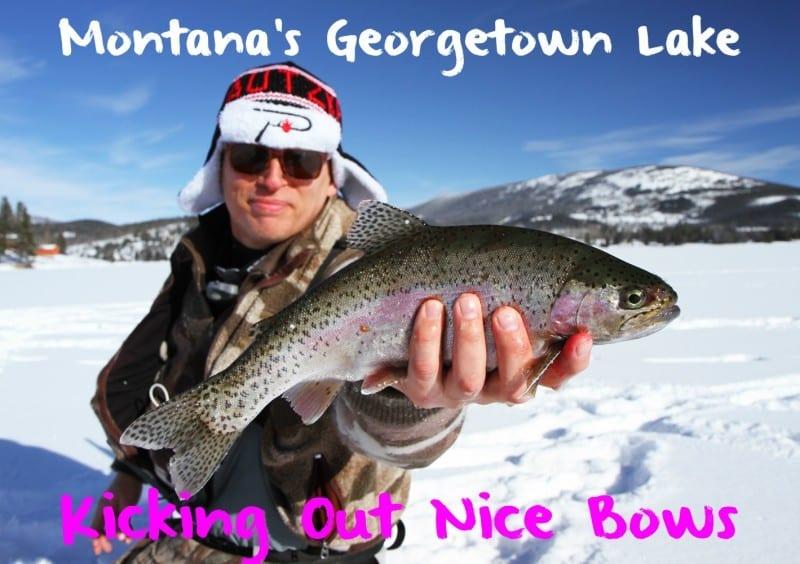 Montana s georgetown lake kicking out nice bows pautzke for Lake georgetown fishing